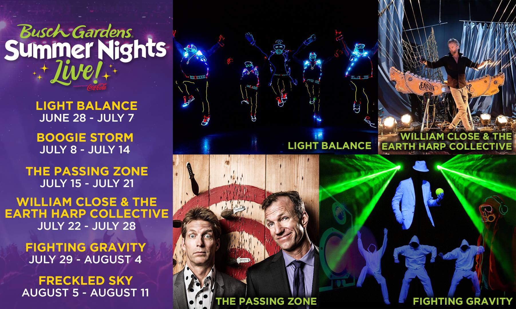 Find Out What Concerts are Coming to Summer Nights Live at Busch Gardens Williamsburg in 2019